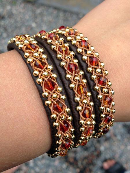 cloudberry leather bracelet