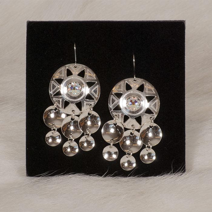 Silverörhängen med swarovskikristall