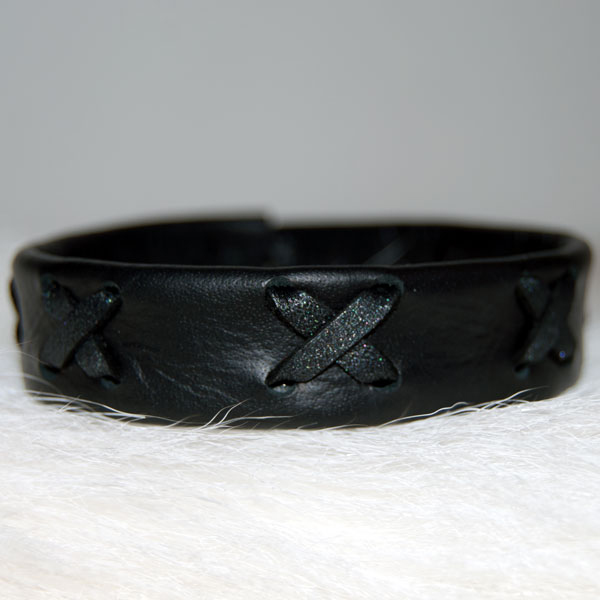 Leather bracelet Cross