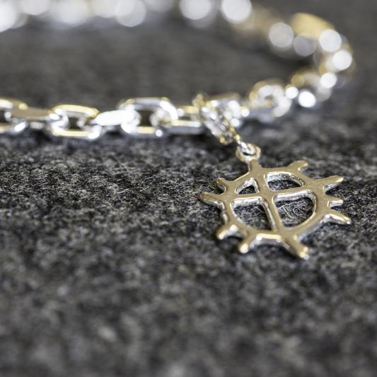 Sunwheel silver pendant