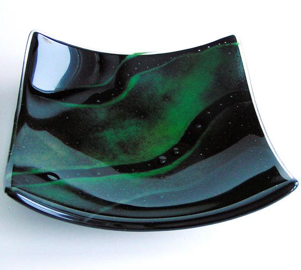 Glass plate Aurora Borealis large