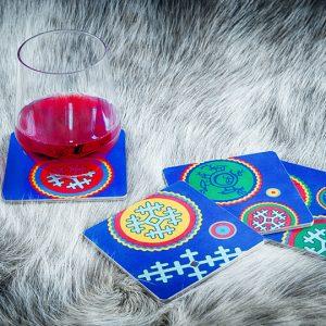 Glasunderlägg Lapland
