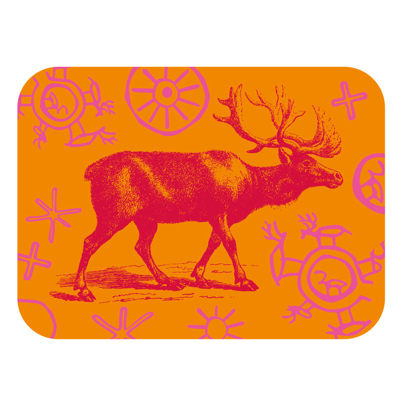 Tray Reindeer in Midnight sun