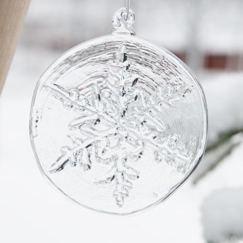 Snöflinga glashänge