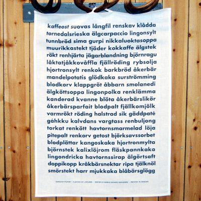 Kökshandduk flavors of lapland