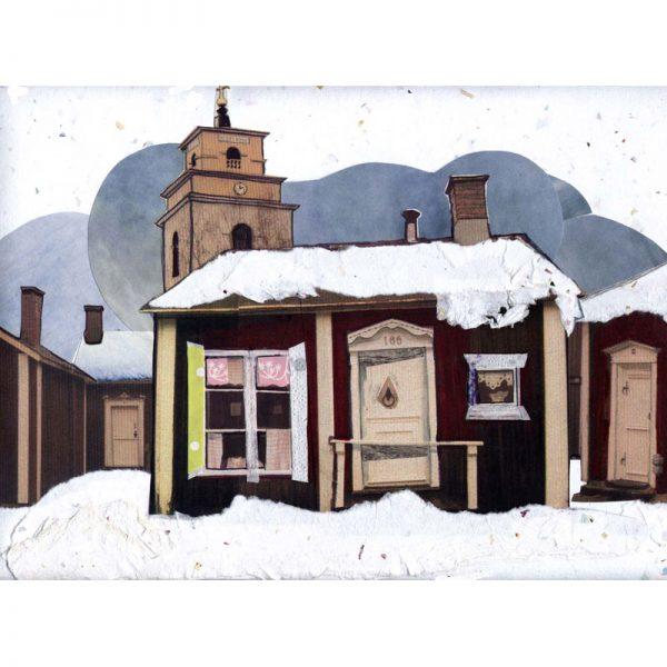 Vinter i gammelstads kyrkstad