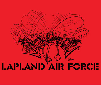 t-shirt lapland air force