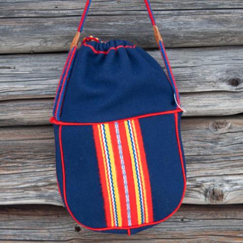 Handväska blått kläde