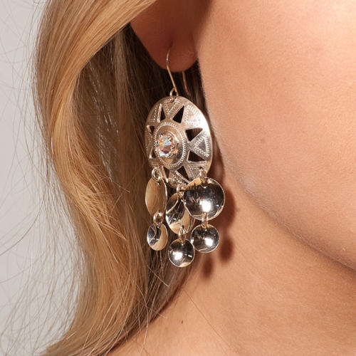 Silver earrings with swarovski crystal