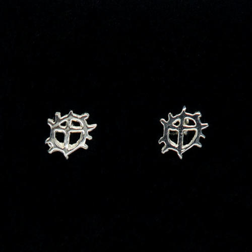 Sunwheel studs earrings