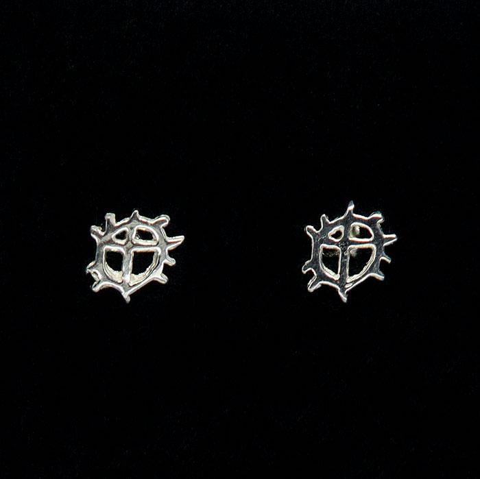 Sunwheel studs earrings
