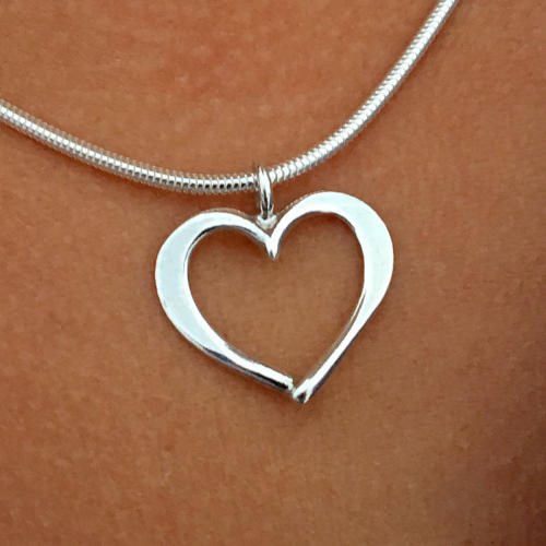 Hjärtlig silver necklace