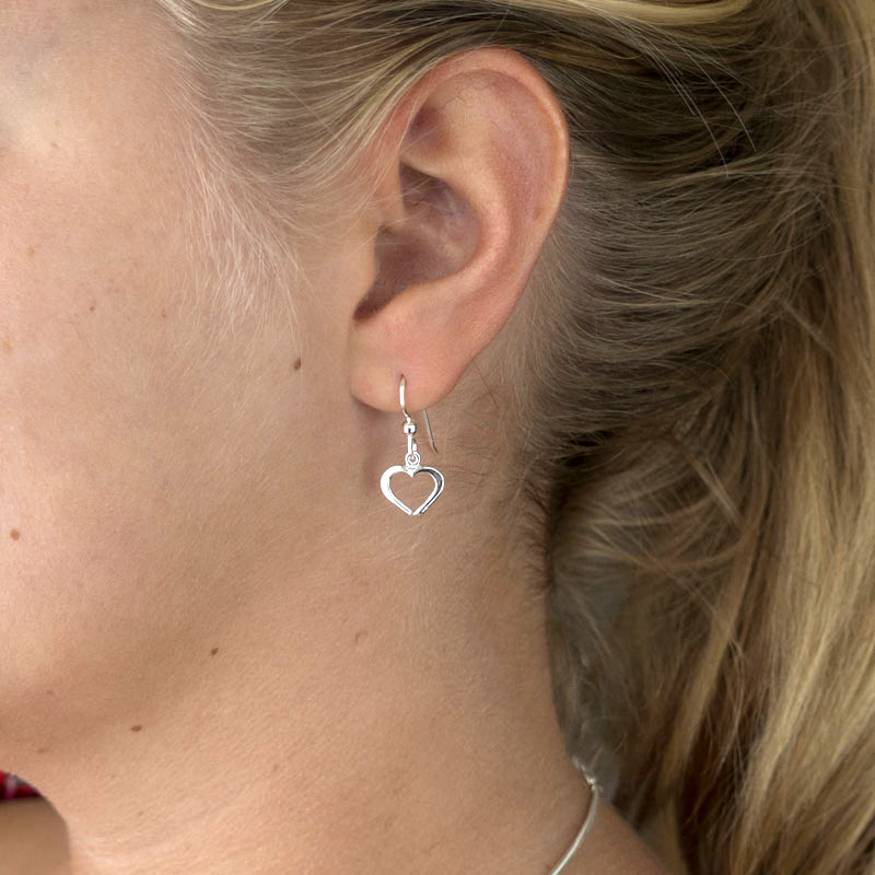 Silver earrings Hjärtlig