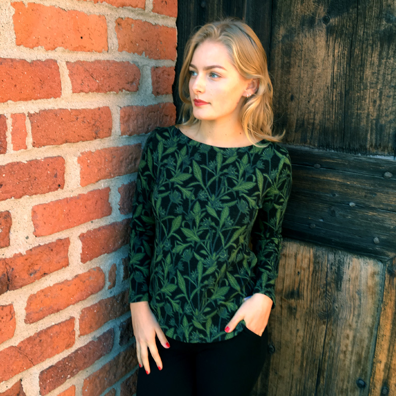 Wool top - green