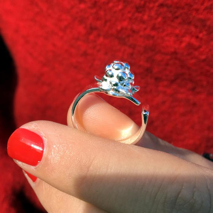 Cloudberry silver ring