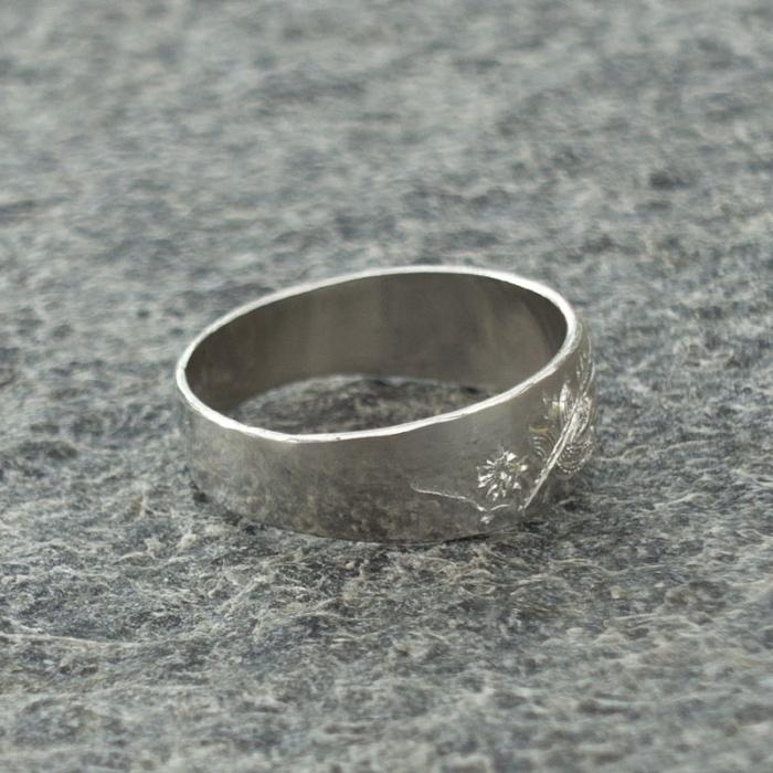 Torne valley narrow silver ring