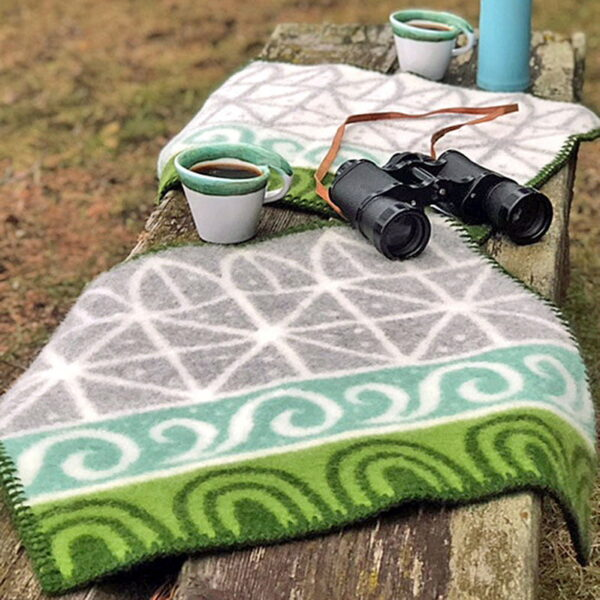 Seat pad in wool - color