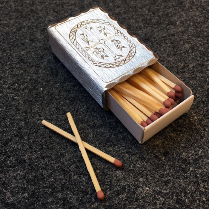 Matchbox case in pewter