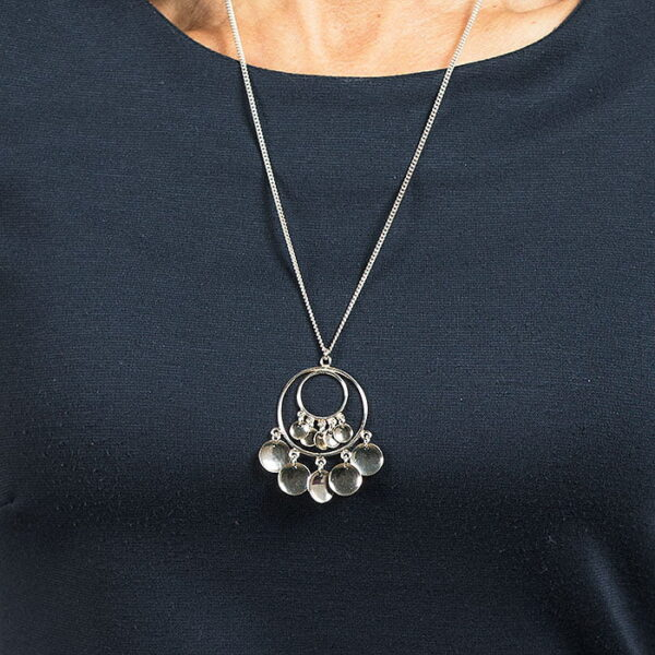 Silver necklace Salbba - large