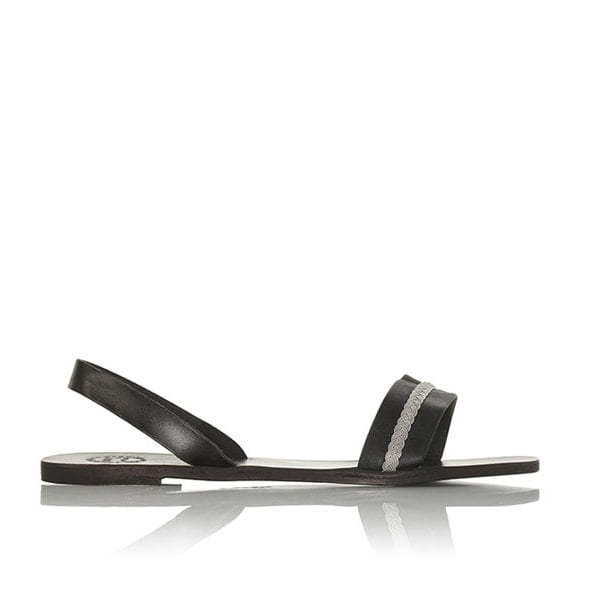 Ella sandal with pewter braid