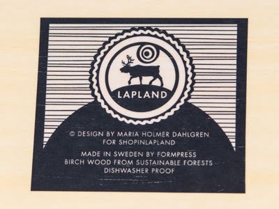 Bricka Lapland blå