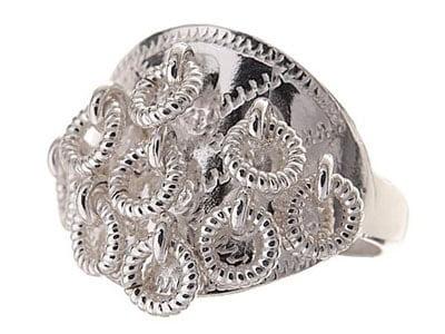 Traditional Sami wedding silver ring