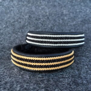 Tennarmband Black stripes