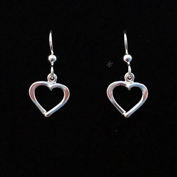 Silver earrings Hearts