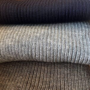Rib knit scarf in wool several colors