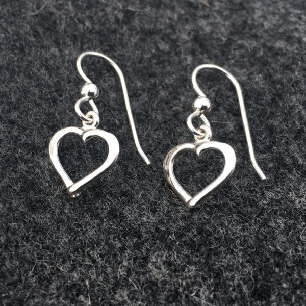Silver earrings Hjärtlig