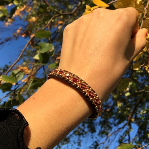 Leather bracelet Cloudberry