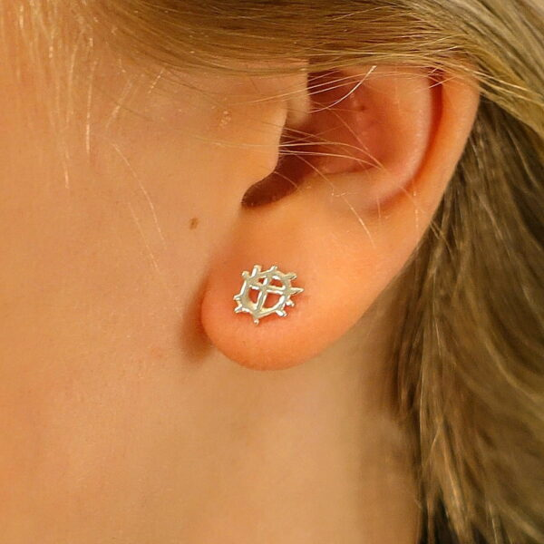 Silver ear studs The Sunwheel