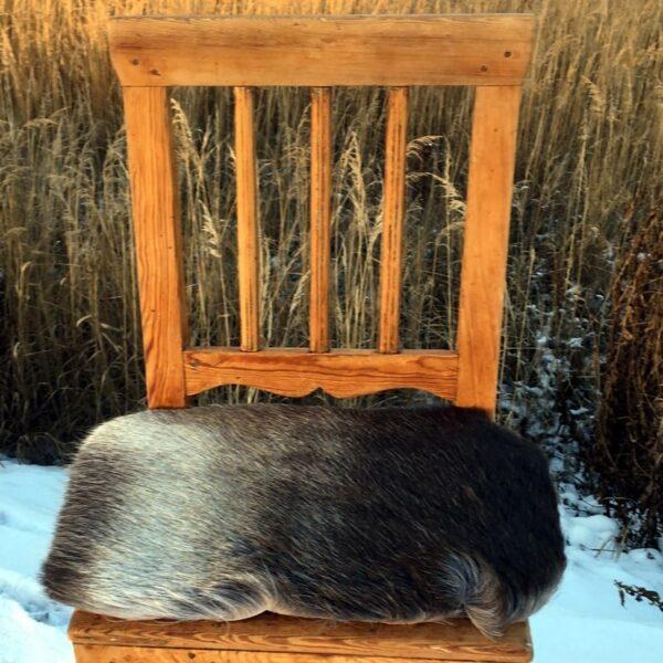 Seat cushion reindeer skin - outdoor life