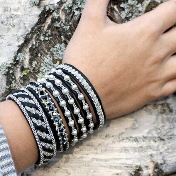 Several pewter bracelets from Norrbotten