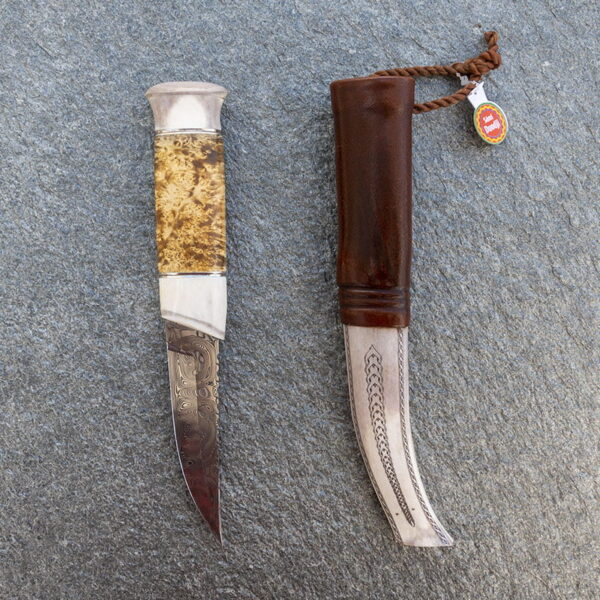 handgjord sameslöjdskniv i ett exemplar