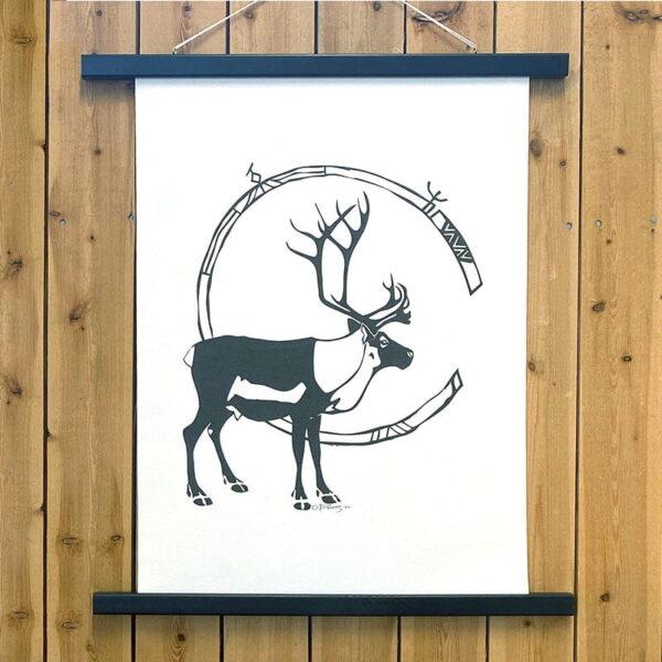 Poster i canvas av Barbro K Poggats - Ren med horn