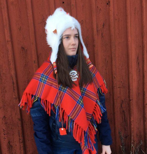 Fur hat in kidskin - Sami design