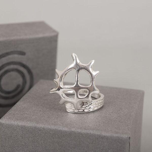 Silver ring Sun Wheel