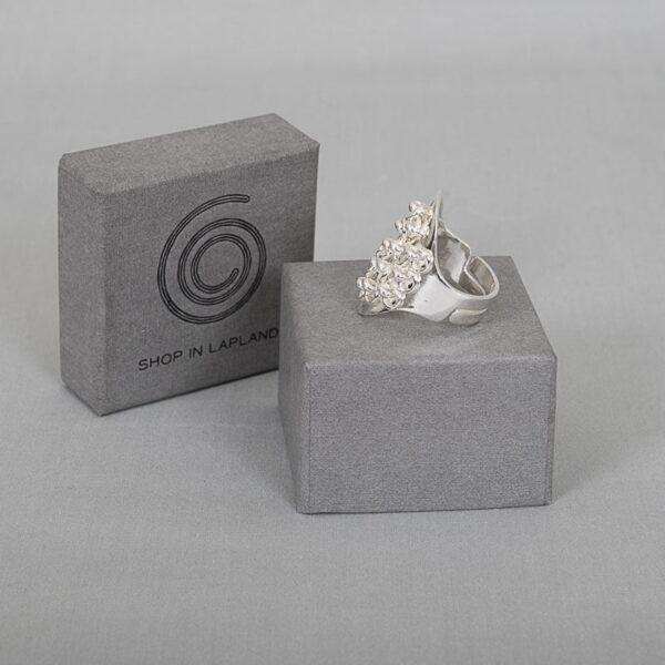 Sarek - Adjustable luxurious silver ring