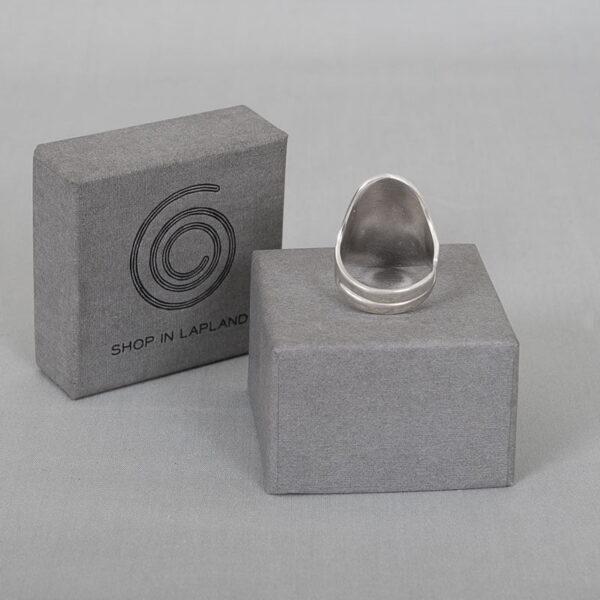 Vidderna - Reglerbar stilren silverring
