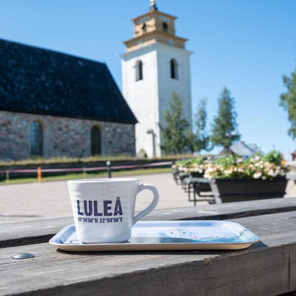 Luleå 400 år - Set med Luleåmugg och Gammelstadsbricka